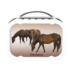 Grazing Horses Lunch Box #zazzle #lunchboxes