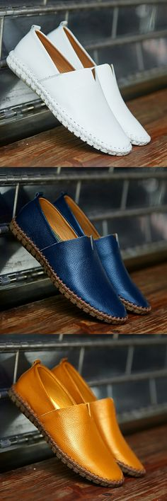 US $25.98 <Click to buy> Prelesty Big Size 38-50 Spring Autumn Men Luxury Brand Driving Shoes Breathable Genuine Leather Flats Loafers Casual Slip On