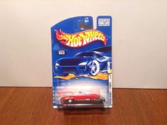 Hot Wheels '57 Roadster #52 2001 First Editions Red 1957 Chevrolet w/ Micro Gear #HotWheels #Chevrolet