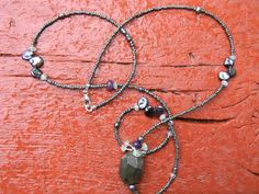 Sodalite and Aquamarine Necklace by juRnE on Etsy, $38.00