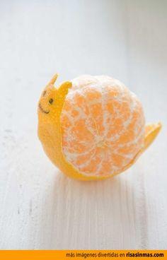 Mandarina caracol: Una mandarina y mucho tiempo libre