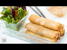 Como hacer Rollitos de primavera estilo Thai con salsa agridulce de cacahuetes(ปอเปี๊ยะทอด)
