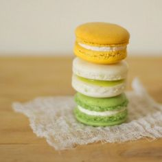 These milk & honey, key lime pie, and matcha macarons are perfect for spring!