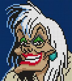 Kandi Patterns for Kandi Cuffs - Characters Pony Bead Patterns Disney Cross Stitch Patterns, Pony Bead Patterns, Kandi Patterns, Peyote Stitch Patterns, Perler Patterns, Beading Patterns, Diy Perler Beads, Perler Bead Art, Perler Bead Disney