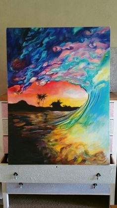 Wave painting by Ashleigh Papas. JHB, South Africa x Acrylic on Canvas Art Interiors, South Africa, Interior Decorating, African, Canvas, Artwork, Artist, Painting, Design