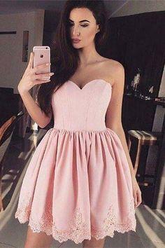 Strapless Pink Short Homecoming Dress