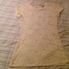 Express Top Lace cream top. Too small for me Express Tops Blouses