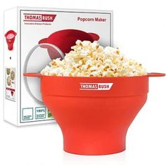 Microwave Popcorn Maker One of the Best Microwave Popcorn Poppers for Home Collapsible Silicone Bowl *** For more information, visit image link. Microwave Popcorn Bowl, Best Popcorn Maker, Hot Air Popcorn Popper, Poppers Recipe, Popcorn Recipes, How To Make Light, Mexican Food Recipes, All You Need Is, Awesome Kitchen