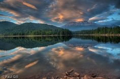 Mt Shasta reflection Lake Siskiyou, California I love living here..