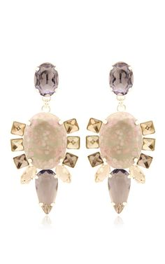 Pink Bulbine Earrings by MoutonCollet for Moda Operandi