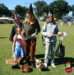 Lions and Tigers and Bears, Oh My! This group participated in our costume contest as the crew from The Wizard of Oz. | First Coast No More Homeless Pets | #dogtoberfest2014 #fcnmhp #dorothy #toto #scarecrow #tinman