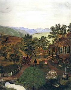 Shenandoah Valley (1861 News of the Battle)  Grandma Moses  1938