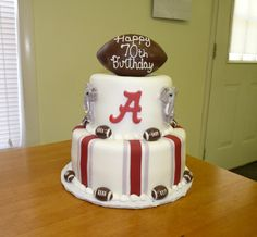 Alabama Crimson Tide Birthday Cake