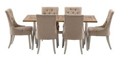 Byron 1800 Dining Package with Gallery Chairs (Table - 1800W x 900D x 785H mm.  Chair - 560W x 660D x 990H mm) RRP $1,605