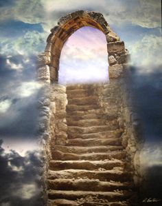 "Bartow - Treasures of the Deep ""Narrow is the gate and difficult the way which leads to life. Art Visionnaire, O Portal, Heaven's Gate, Prophetic Art, A Course In Miracles, Foto Art, Christian Art, Heaven On Earth, Doorway"