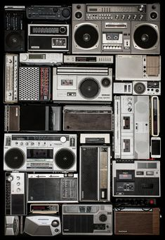 Music Aesthetic, Retro Aesthetic, On Air Radio, Jamel Shabazz, Clueless Quotes, Music Studio Room, Boombox, Vintage Photos, Design Inspiration