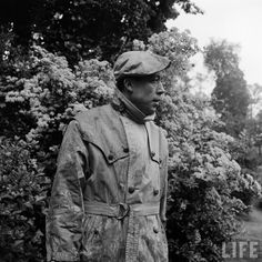Albert Camus in a trench.