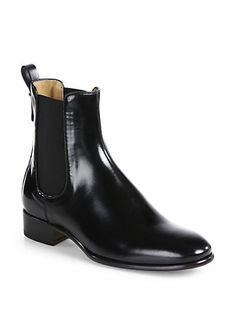 Salvatore Ferragamo - Rommy Leather Chelsea Boots 967a8da235