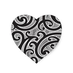 Shop Maori Tribal Tattoo Pattern Heart Sticker created by BowWowCreative. Hawaiian Tribal Tattoos, Samoan Tribal Tattoos, Maori Tattoos, Borneo Tattoos, Tatoos, Maori Tattoo Meanings, Maori Symbols, Polynesian Designs, Maori Tattoo Designs