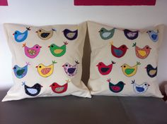Bird cushions made for Lucy