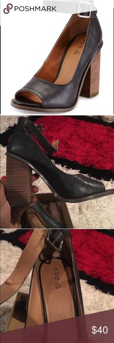 🍒MUST GO🍒 Kelsi Dagger battle heel Never worn | Sz 8, but I wear 8.5 and can comfortably fit | no longer comes with box, as I used it to wrap a Christmas present 😊 | features adjustable strap and 3.75 inch heel, but they are comfortable *Make an offer! These must go Kelsi Dagger Shoes Heels