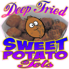 "7"" Deep Fried Sweet Potato Concession Trailer Bar Restaurant Vinyl Sign Decal"