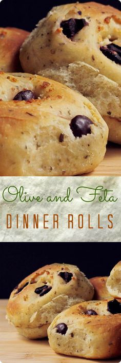 Olive and Feta Dinner Rolls | These rolls are filled with olives & feta cheese, and the dough is flavored with oregano. They're tasty all by themselves, but also perfect with dinner, particularly when you're serving something with Greek or Mediterranean flavors. Find recipe at redstaryeast.com.