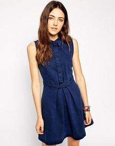 Cute denim shirt dress