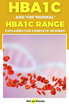 HbA1c is a marker used to measure long-term blood sugar (glucose) levels. Those with type 1 or type 2 diabetes may have seen it before, but what is a normal HbA1c range? This article explores what your HbA1c reading should be and how you can improve it. #bloodsugar #diabetes #nutrition #dietitian