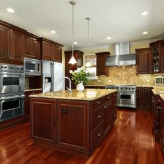 Kitchen Wall Colors With Cherry Cabinets Design