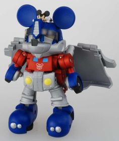 Mickey Mouse Optimus Prime Transformer Toy | Walyou