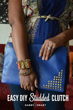 Easy DIY Studded Clutch from Darby Smart DIY kit