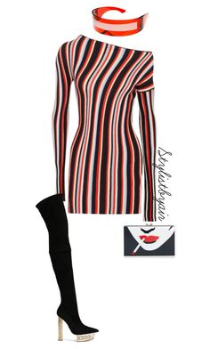 """""""Untitled #7139"""" by stylistbyair ❤ liked on Polyvore featuring Jacquemus and Versace"""