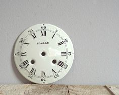 VINTAGE 1900 clock face, large enamel clockface, enamel dial, clock supply, antique clock part, decorative enemalware, collectibles