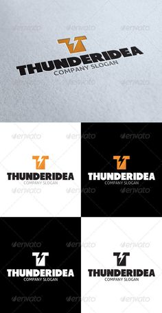 Thunder Idea T Letter Logo - GraphicRiver Item for Sale