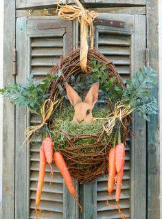 Door Wreath Spring Easter Wreath Bunny Easter Front Doorâ?¦