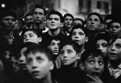 ITALY. Sicily. Bagheria. Audience at the ballad singer show. 1962,by  Ferdinando Scianna