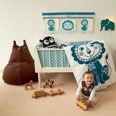 Bettwäsche SoulMate Löwe blau/graublau von roommate Baby 70 x 100