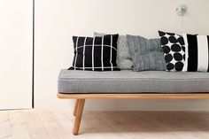Marimekko Pienet kivet cushion cover 50 x 50 cm Couch Cushions, Bed Pillows, Kitsch, Cushion Covers, Pillow Covers, Creative Beds, Beds For Small Spaces, Fall Pillows, Black Bedding