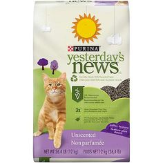 Purina Yesterday's News Unscented Cat Litter - 30 lb. Bag - Great value for the price, definitely recommend.This Purina Yesterday's News that is ranked 287 in t Best Cat Litter, Paper Cat Litter, Litter Box, Rabbit Litter, Rex Rabbit, Yesterday News, Bunny Care, B 13, Puppies