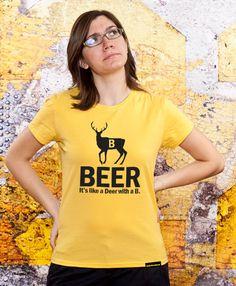 Ladies Tshirt Deer Beer Sister Gift Mom Gift by store365 on Etsy