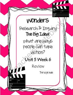 Wonders~Unit 5 Week 6 Review Week~Choose A Project from Core Leadership Academy on TeachersNotebook.com -  (1 page)  - wonders~Unit 5 Week 6 Review Week ~Choose A Project ~Anchor Chart