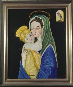 MADONNA col BAMBINO - acrilic on canvas - 24x30 - sold