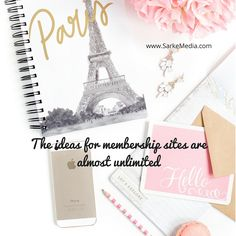 The ideas for memberships sites are almost unlimited Ideas, Thoughts