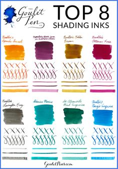 What is shading? It's a common (and often desired) aspect of fountain pen ink where there is pooling in certain parts of a letter when writing, so that the color and saturation of the ink appears different within a single letter or word. Shading inks are something commonly sought out by fountain pen enthusiasts because it's a characteristic that can't be achieved with ballpoint or rollerball pens.