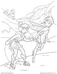 Tinkerbell And Periwinkle Tinkerbell Coloring Pages Fairy