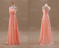 Hey, I found this really awesome Etsy listing at http://www.etsy.com/listing/162339790/peach-prom-dress-long-prom-dress-chiffon