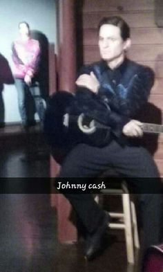 Johnny Cash #HollywoodWaxMuseum