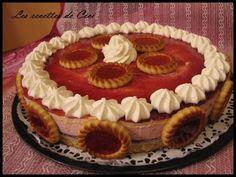 Entremet aux 2 mousses fraise et mascarpone au chocolat blanc