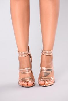 Nicky 3 Piece Heel - Rose Gold